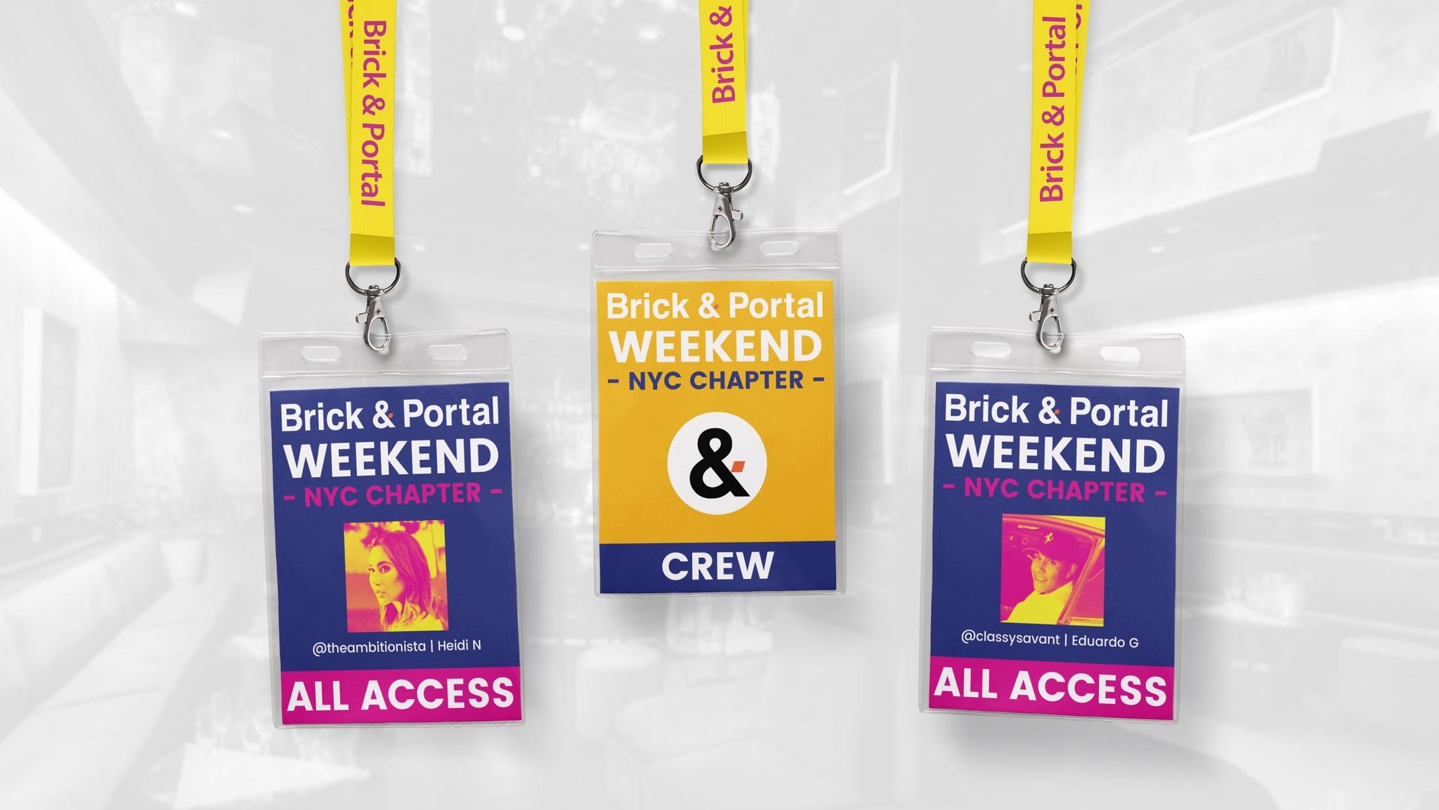 brick & portal weekend - Design