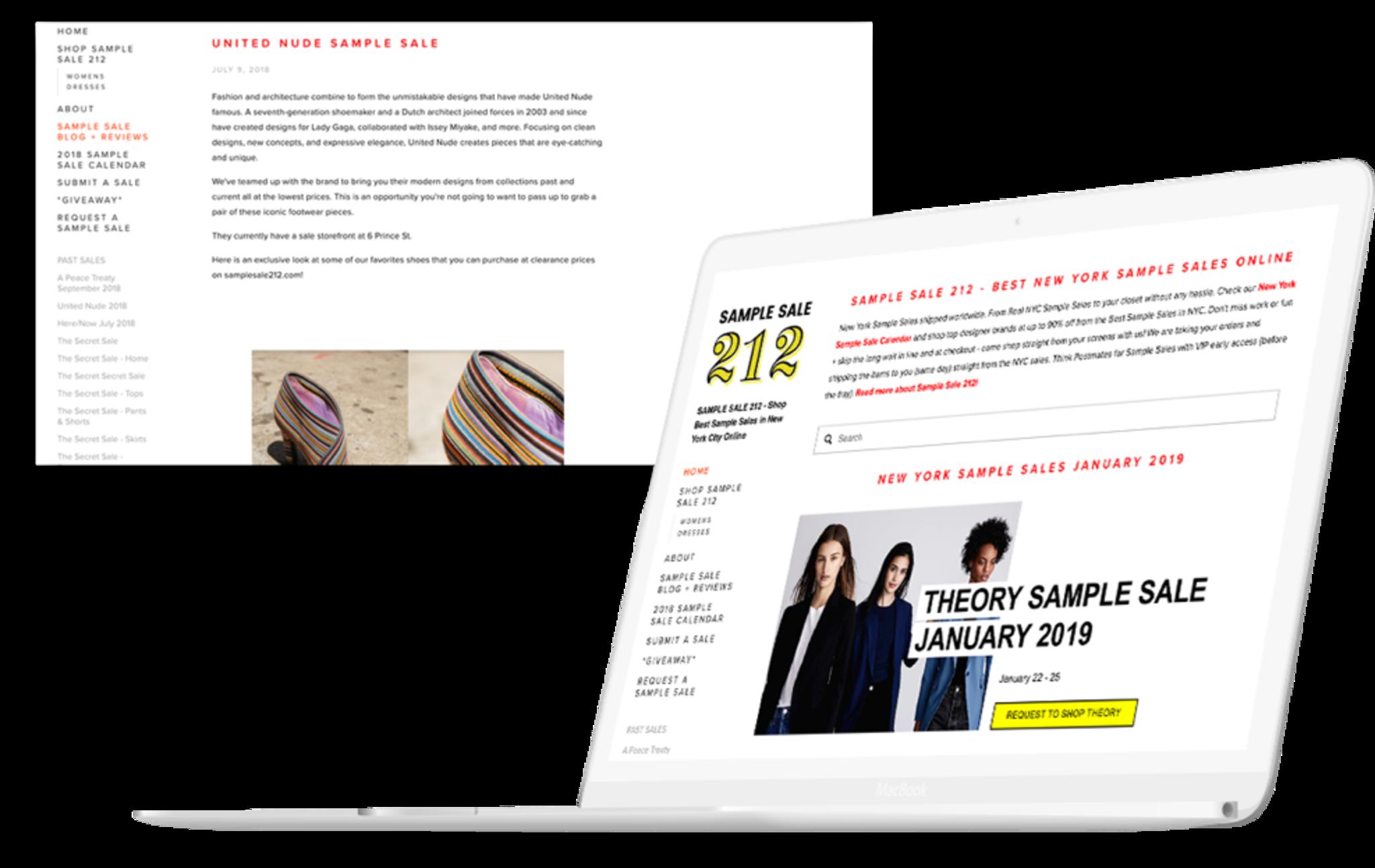 Sample Sale 212 - Development