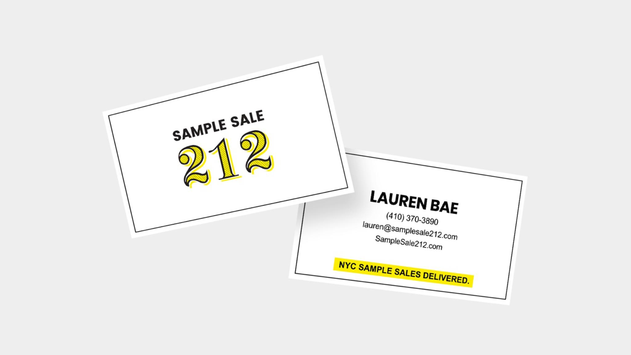 Sample Sale 212 - Design
